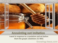 Annointing not Imitation